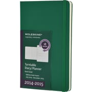 Moleskine 2014-2015 Turntable Planner, 18M, Weekly, Green, Hard Cover, 5 x 8 1/4