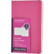 Moleskine 2014-2015 Turntable Planner, 18M, Weekly, Magenta, Hard Cover, 5 x 8 1/4