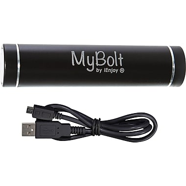 iEnjoy MyBolt Portable USB Flash Charger, Black
