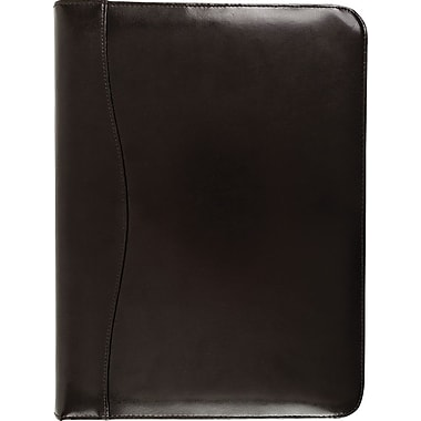 Bugatti Burroughs Genuine Leather Ring Binder, Black