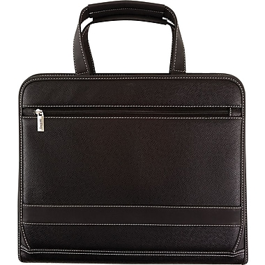 Bugatti Sergent Zippered Binder, Black