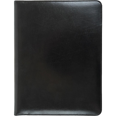 Bugatti Adams Genuine Leather Padfolio, Black