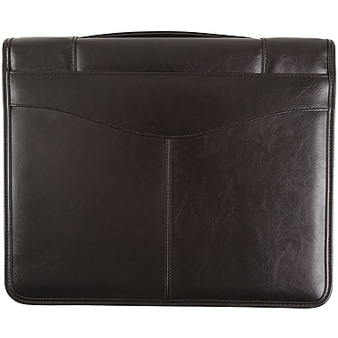 Bugatti Bronte Genuine Zippered Leather Binder Black