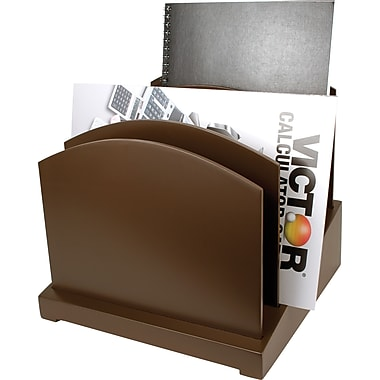 Victor® Wood Desk Accessories Incline File, Mocha Brown