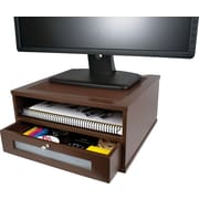 Victor® Wood Monitor Riser, Mocha Brown