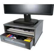 Victor® Wood Monitor Riser, Classic Silver