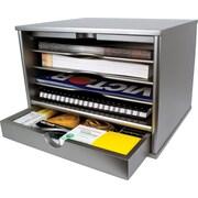 Victor® Wood Desktop Organizer, Classic Silver