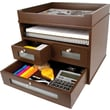 Victor® Wood Tidy Tower Organizer, Mocha Brown