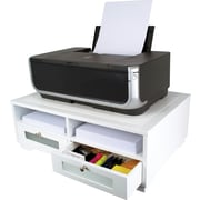 Victor® Wood Printer Stand, Pure White