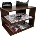 Victor® Wood Desk Accessories Corner Shelf, Mocha Brown