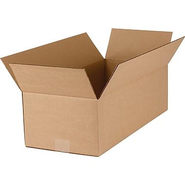 Boîtes en carton ondulé, 21 po x 9 1/2 po x 6 po, lot de 25