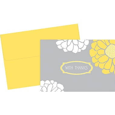 Great Papers® Sunny Flowers Thank You Cards, 24/Pack
