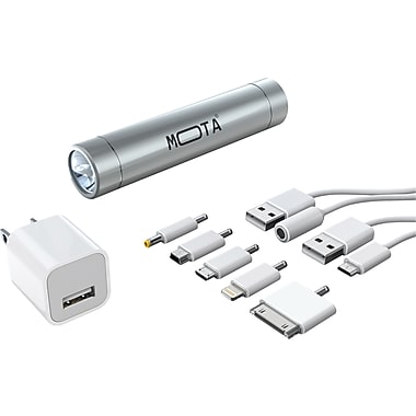 MOTA 2,600 mAh Battery Stick Bundle, Silver
