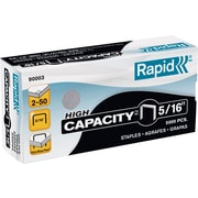 "Rapid High-Capacity Staples, Flat Clinch, 5/16"", 5,000/Box"