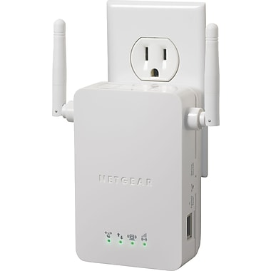NETGEAR N300 WiFi Range Extender Wall Plug Version WN3000RP