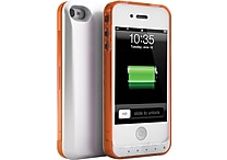 Unu DX Lite iPhone Battery Case for iPhone 4/4S, White/Orange