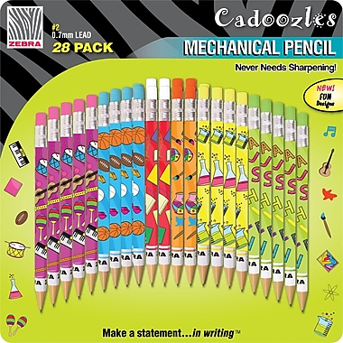 Zebra® Cadoozles Fun Mechanical Pencils, 28/Pack