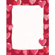 Great Papers® Fuzzy Hearts Letterhead, 80/Pack