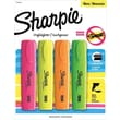 Sharpie Blade Highlighters, Chisel Tip, Assorted, 4/Pack