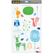 Scotch® Expressions Decals, Sheet Size: 8 1/2 x 14, Assorted Decals - Animals, 1 Sheet/Pack