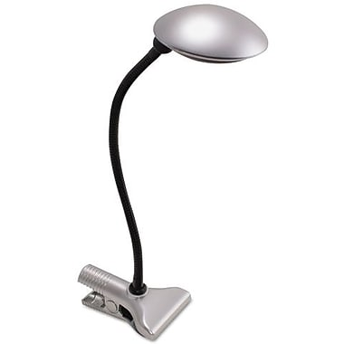 Ledu LED Clip-On Domed Adjustable Desk Lamp, Silver