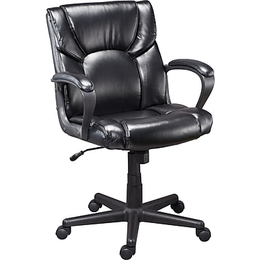 Staples Montessa II Luxura Managers Chair, Black