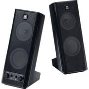 Logitech X-140 Multimedia Speakers with Stereo Sound for Multiple Devices, Black (970-2640403)