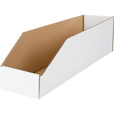 Boîte de rangement, 18 po x 4 po x 4,5 po, 50/lot