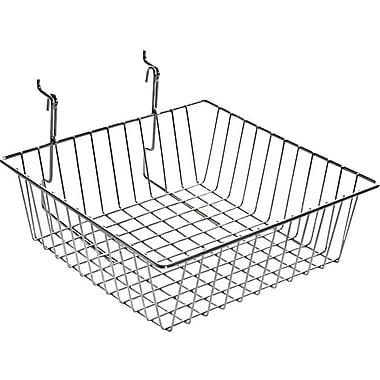 Azar Displays Wire Basket, Chrome, 4 1/4