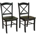 TMS Tiffany Rubberwood Dining Chair, Black