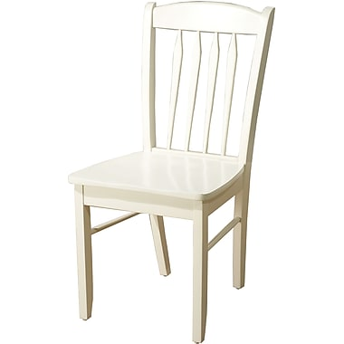 TMS Savannah Rubberwood Side Chair, Antique White