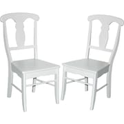 TMS Empire Rubberwood Dining Chair, White