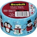 Scotch® Brand Duct Tape, Holiday Friends, 1.88in. x 10 Yards