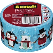 Scotch® Brand Duct Tape, Holiday Friends, 1.88 x 10 Yards