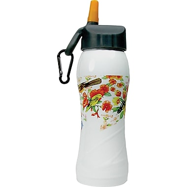 Gaiam® Stainless Steel Water Bottle with Cap Style 3, 750mL, Birdsong