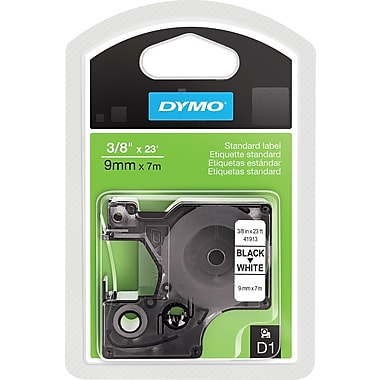 DYMO 3/8in. D1 Label Maker Tape, Black on White