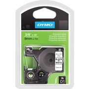 "DYMO 3/8"" D1 Label Maker Tape, Black on White"