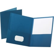 Staples® School Grade 2 Pocket Folder, Blue, 25/Box