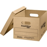SmoothMove Small Classic Moving and Storage Boxes, 10/Bundle