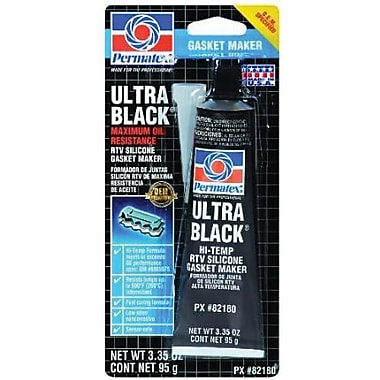 Permatex Ultra Blue® Metallic Black Paste Maximum Oil Resistance RTV Silicone Gasket Maker, 3.35 oz Tube