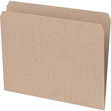 Staples® Recycled File Folder, Straight-Cut, Letter Size, 10-1/2 pt., Natural Sand