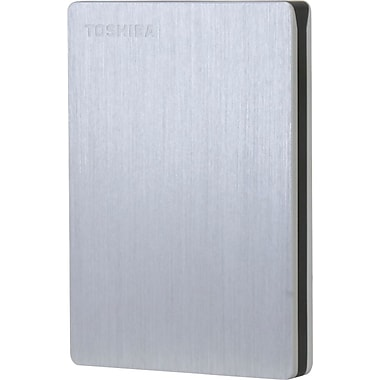 Toshiba Canvio® Slim II 1TB Portable External Hard Drive, Silver