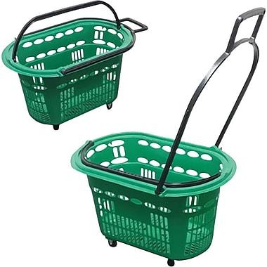 Rolling Plastic Hand Shopping Basket, 14