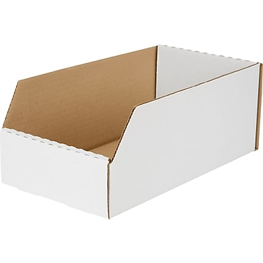 Boîte de rangement, 12 po x 6 po x 4,5 po, 50/lot