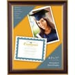 Victory Light 8 1/2in. x 11in. Document Frame, Mahogany with Gold Accent