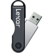Lexar JumpDrive TwistTurn 16GB USB 2.0 Flash Drive, Black (LJDTT16GABNL)