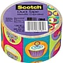 Scotch® Brand Duct Tape, Metallic Cupcakes, 1.88 x
