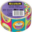 "Scotch® Brand Duct Tape, Metallic Cupcakes, 1.88"" x 10 Yards"