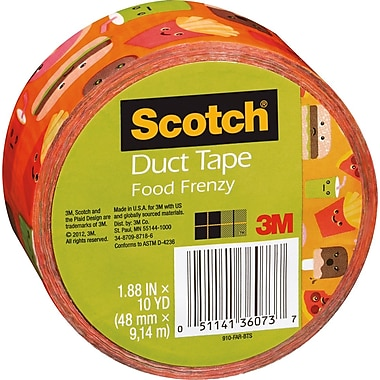 Scotch® Brand Duct Tape, Food Arcade, 1.88in. x 10 Yards