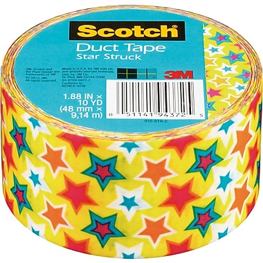 Scotch® Brand Duct Tape, Star Struck, 1.88